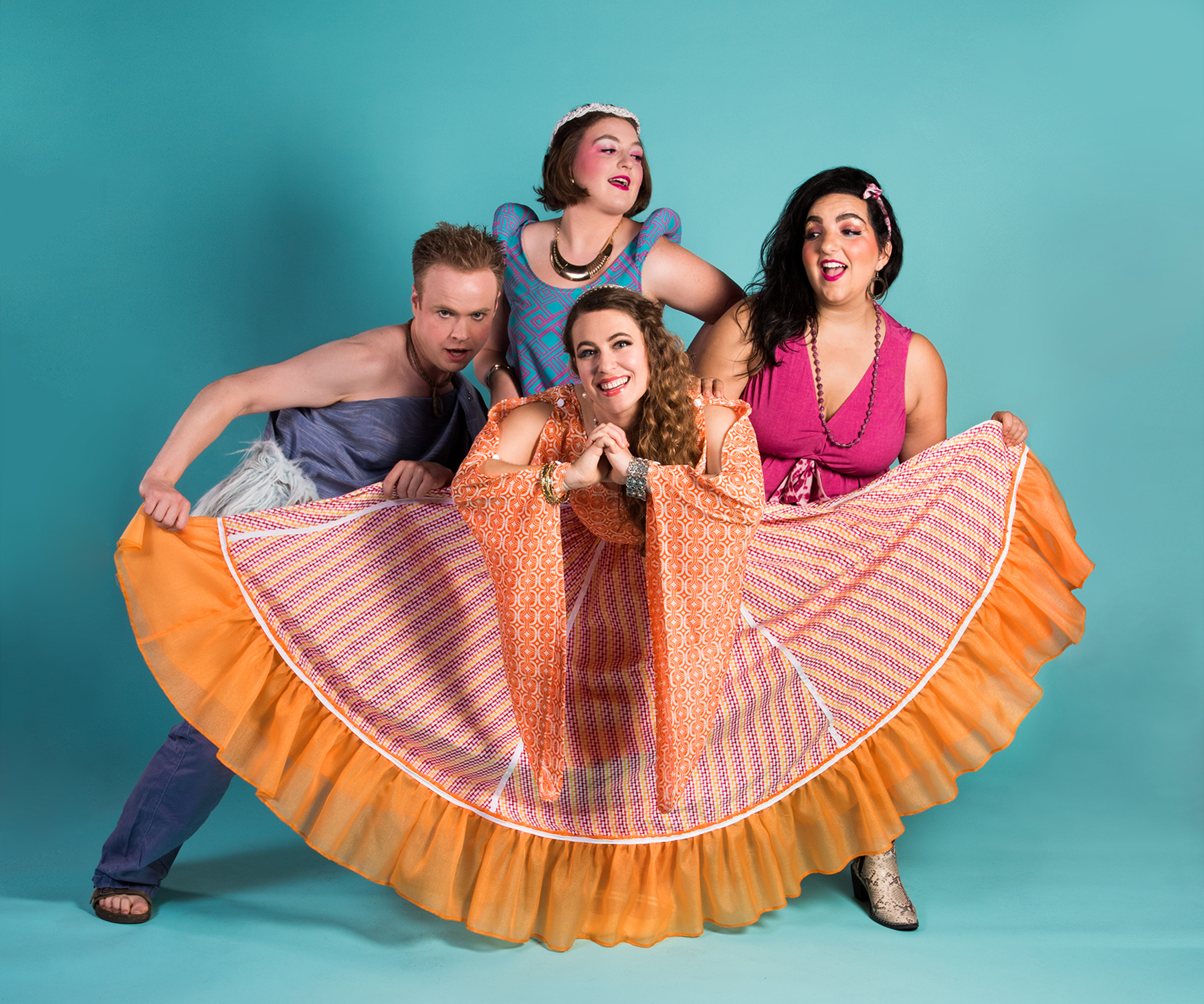 Pictured: Scott Scholes, Ella Ruth Francis, Kimberley Cohan, Danya El-Kurd. Photo by Lois Tema.